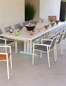 Table De Jardin Blanche : table de jardin design blanche 10 places salon de jardins ~ Teatrodelosmanantiales.com Idées de Décoration