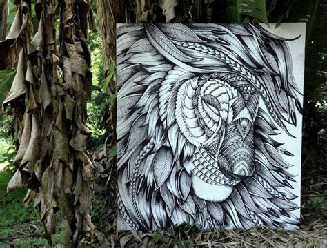 majestic animal illustrations hand drawn  intricately