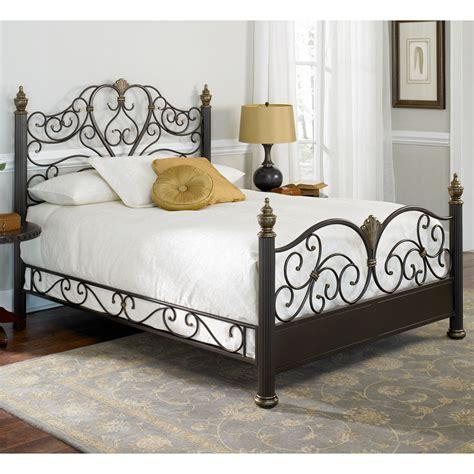 elegance iron bed ornate design glided truffle