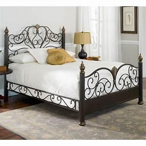 Elegance Iron Bed Ornate Victorian Design Glided Truffle