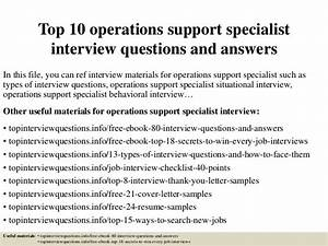 administrative assistant resume skills top 10 operations support specialist interview questions