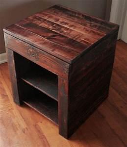 DIY Pallet Bedside Table Ideas Pallets Designs