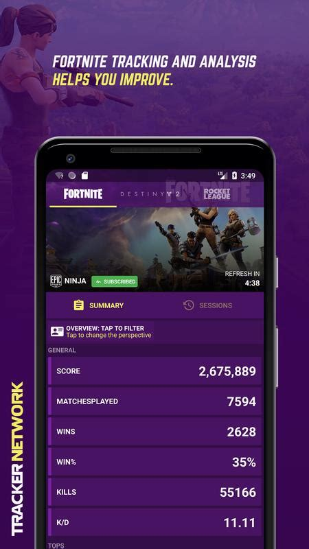 tracker network fortnite stats  android apk
