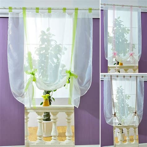 new sheer kitchen bathroom balcony window curtain voile