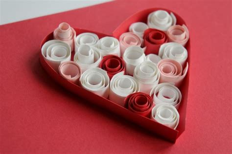 valentines cards paper quilling  kids red ted art