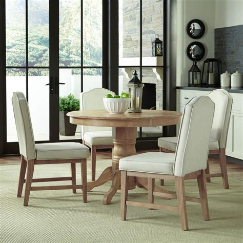 home styles classic  piece white wash upholstered dining