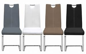 Chaise Salon Pas Cher : chaise en mtal et pu design erina ~ Dailycaller-alerts.com Idées de Décoration