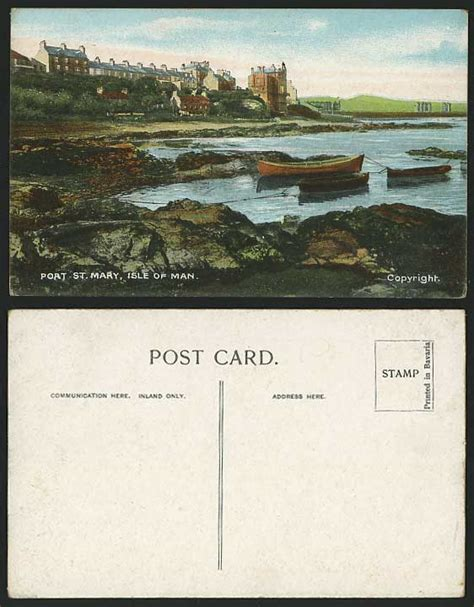 Boat Prices To Isle Of Man by Isle Of Man Old Postcard Douglas Port St Mary Boats
