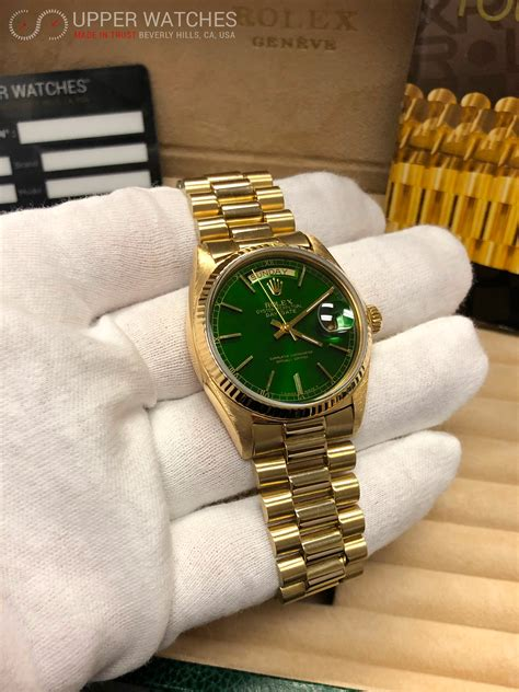 rolex  oyster perpetual day date  yellow gold