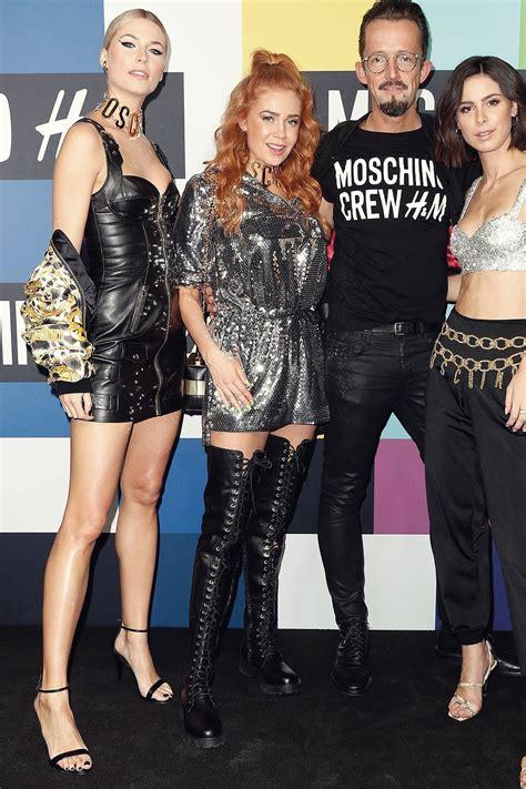 lena gercke attends moschino tv hm pre shopping event