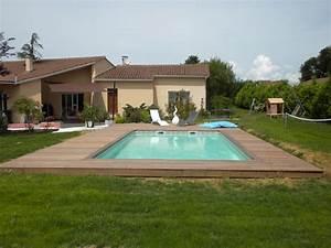 terrasse avec piscine With terrasse bois avec piscine