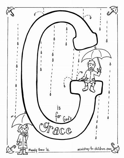 Grace Coloring Bible Pages Printable Children God