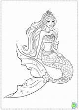Mermaid Coloring Realistic Pattern sketch template