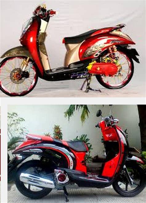 Modif Matic by Modif Motor Matic Honda Scoopy Classic Merah Galeri