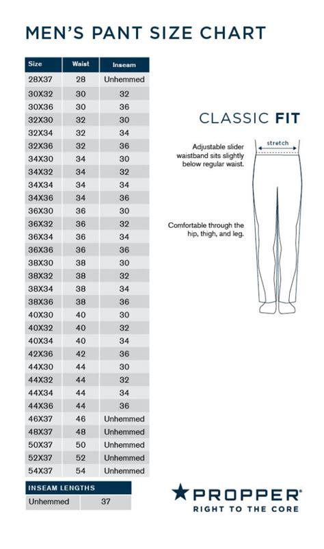propper mens pant size chart uniform tactical supply