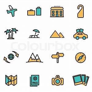 Trendy flat line icon pack for designers and developers ...