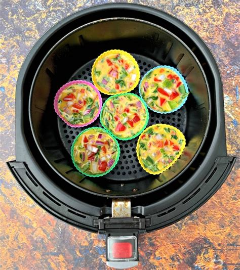 fryer air egg bites cups cook carb keto low power eggs bacon bite raw fryers brown different