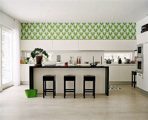 Decorating Ideas Wallpaper by Kitchen Decorating Ideas Vinyl Wallpaper For The Kitchen