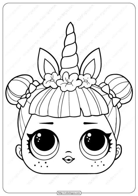 lol surprise unicorn mask coloring licorne  colorier poupees lol coloriage  kitty