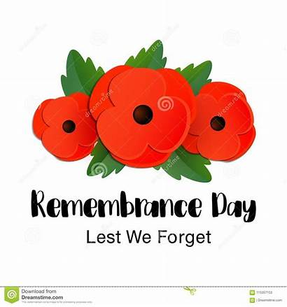 Remembrance Forget Lest Card Vector Canada Background
