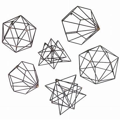 Geometric Metal Wall Abstract