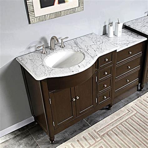 58 Inch Bathroom Vanity Cabinet 58 Inch Modern Single Bathroom Vanity With White Marble