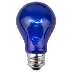 e26 party and sign bulbs a19 transparent blue 25 watt replacement bulbs