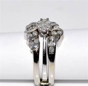 wedding set engagement ring jacket white gold 14k 0 62ct With wedding ring jackets