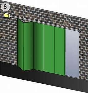les portes de garage les portes pliantes a vantaux With porte de garage pliante 4 vantaux