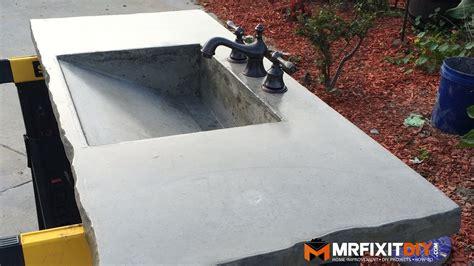 diy concrete sink part    youtube