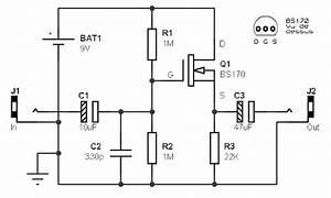 Guitar Preamp Circuit Based Fet  U00bb Circuitszone Com