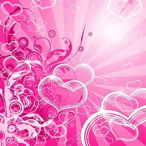 Pretty Pink Backgrounds | ... - Abstract Pink Hearts ...