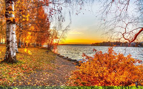 Autumn Lake Wallpapers by 25 Autumn Wallpapers Backgrounds Images Pictures