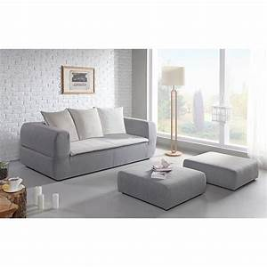sweden canape convertible 3 places 2 grands poufs With canapé 3 places pour chambre adulte originale