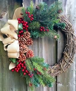 Winter Grapevine Wreath Christmas