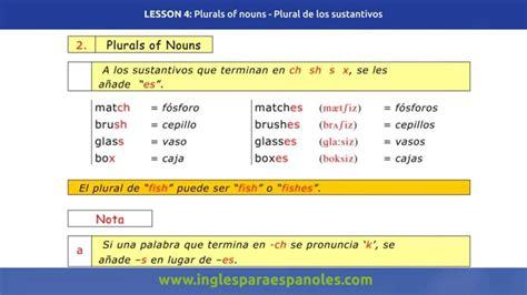 curso de gram 225 tica inglesa aprender ingl 233 s plural de