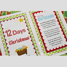 The 12 Days Of Christmas  A Celebration Of The Nativity (free Printables!)  Happy Home Fairy