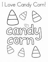 Coloring Candy Corn sketch template