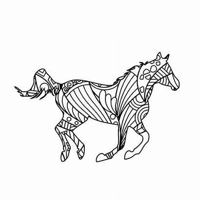 Horse Coloring Mandala Outline Coloringbuddy Outlines Jockey