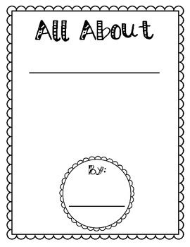 Informational Writing Template Packet {All About Books} by ...