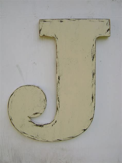 3 d large wooden letter quot n quot 12 inch distressed in large wooden letter j shabby chic cottage home wedding 54083