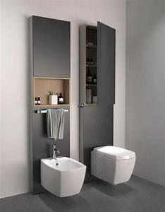 l armoire de toilette quel design choisir et quel materiau With meuble salle de bain toilette