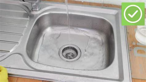ways  unclog  kitchen sink wikihow