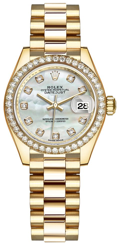 279138RBR MOP Diamond President Rolex Lady Datejust 28mm ...