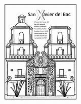 Coloring San Xavier Bac California Missions Template Books Visit sketch template