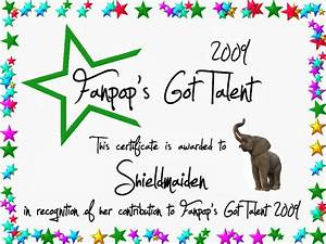 talent show certificate template - template for certificate of participation in talent show