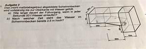 Induktion Berechnen : schwimmbecken volumen f llvorgang mathelounge ~ Themetempest.com Abrechnung