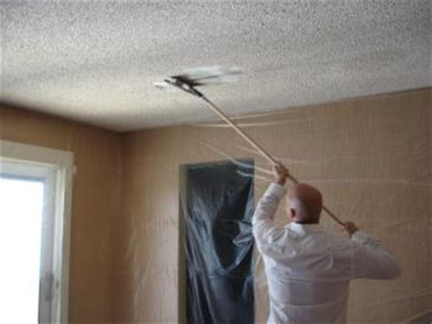 library popcorn ceiling removal scraping and removal