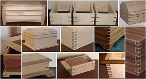 Contrasting Wood Joints Handcrafted Wood Boxes