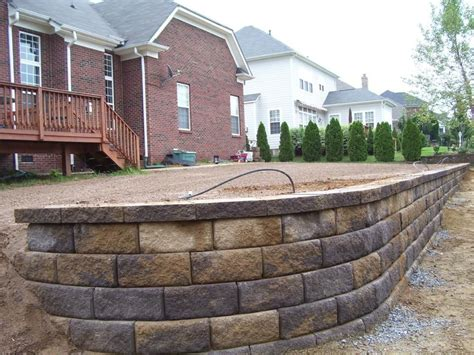 10 highest quality smooth concrete background jpegs. Retaining wall, pavestone block, Carolina Blend color ...